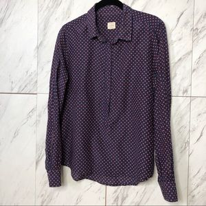 3/$60 J. Crew The Perfect Polka Dot Silk Shirt M